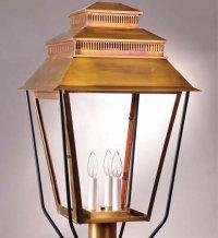 Northeast Lantern 8653 Post Verdi Gris 3 Candelabra ...