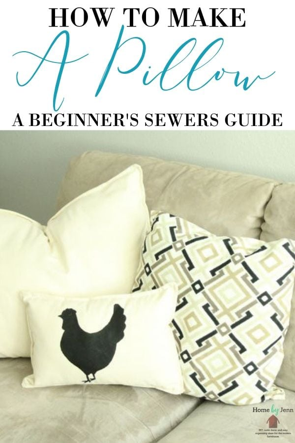 a pillow a beginner s sewers guide