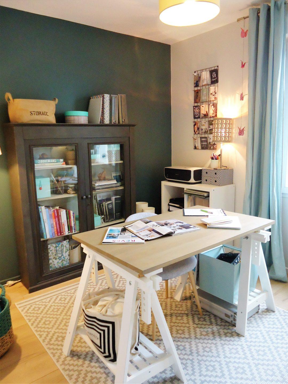 Avantaprs  la dcoration de mon bureauatelier  Home by Marie