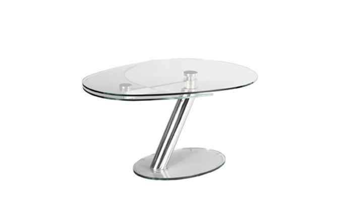 table de repas en verre extensible zeste eda concept