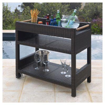 Mueble Organizador Terraza Con Mesa  Home Collection  296330