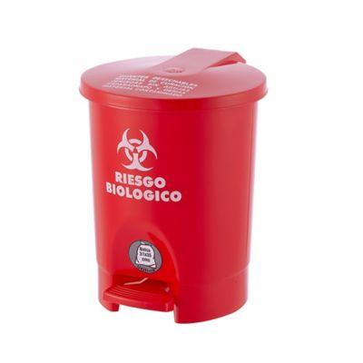 Papelera de pedal 45 litros red roja riesgo biolgico
