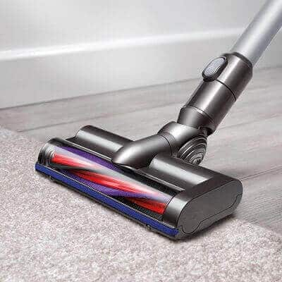 motorized cleaning head on the dyson v6 cordless vacuum cleaner