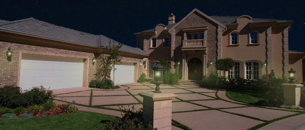 House with Home Detector Lights