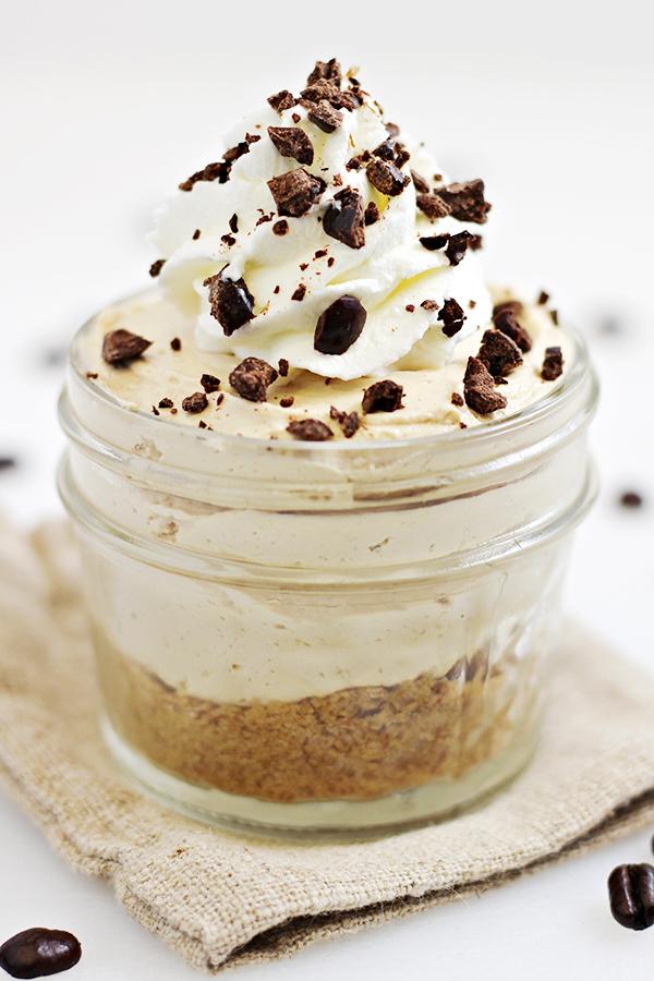 Easy No Bake Coffee Cheesecakes Recipe