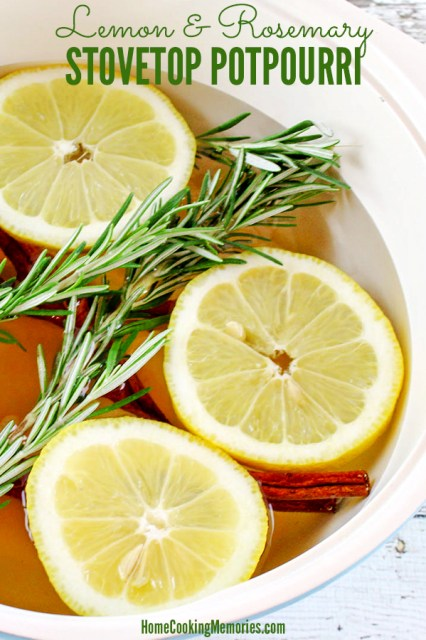 Lemon and Rosemary Stovetop Potpourri Recipe