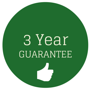 All shutters have a three year guarantee