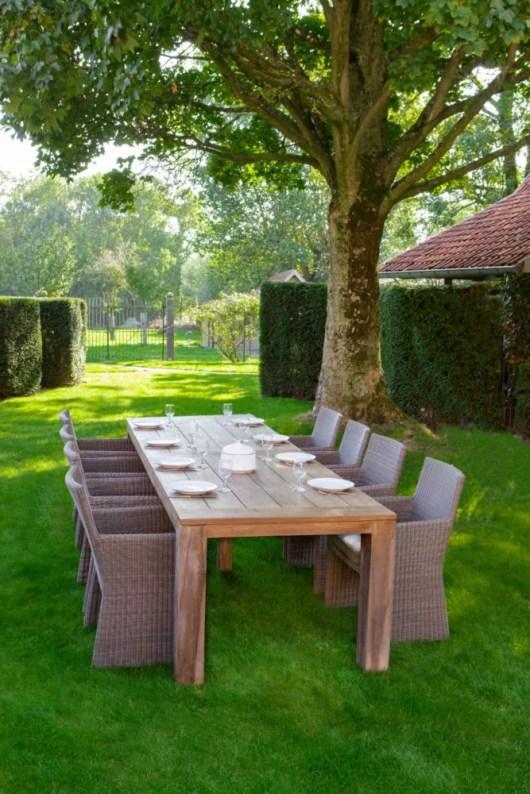 luke teak outdoor table