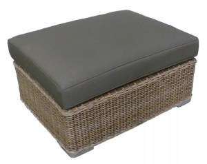 dark gray wicker footstool