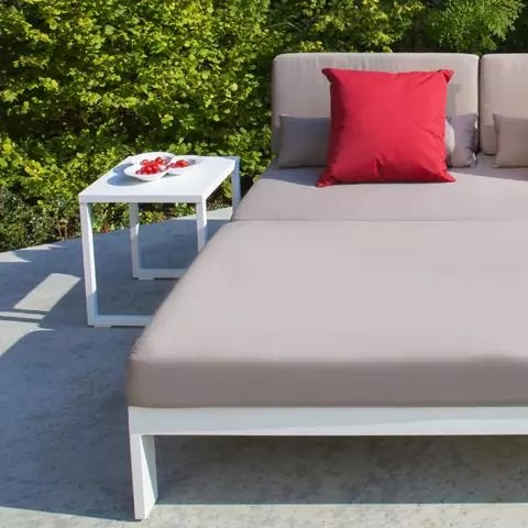 small white side table outdoor