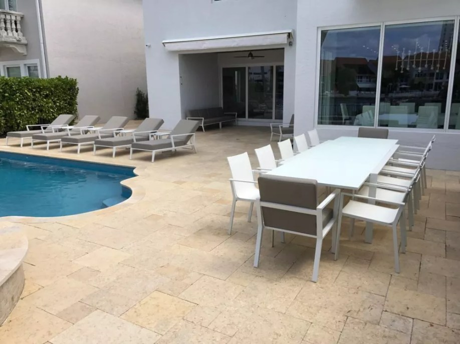 miami patio furniture loungers table chairs