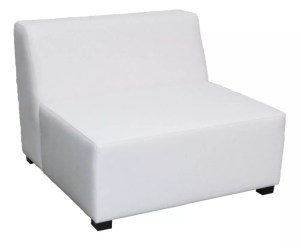 white sofa center seat