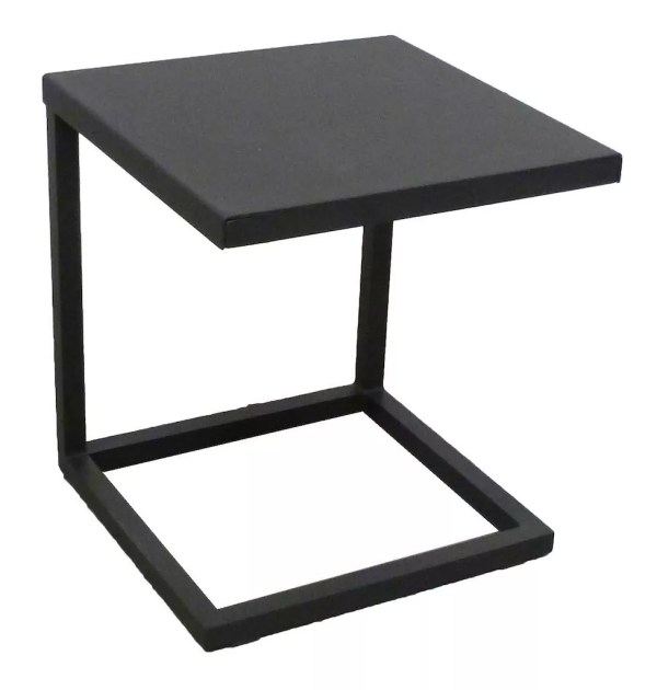 black side table outdoor aluminum