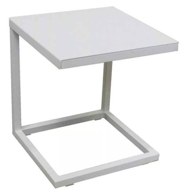 white outdoor side table
