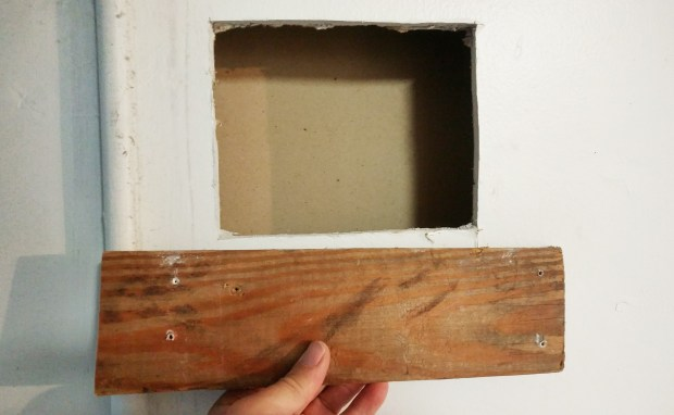 How to patch a big drywall hole yourself