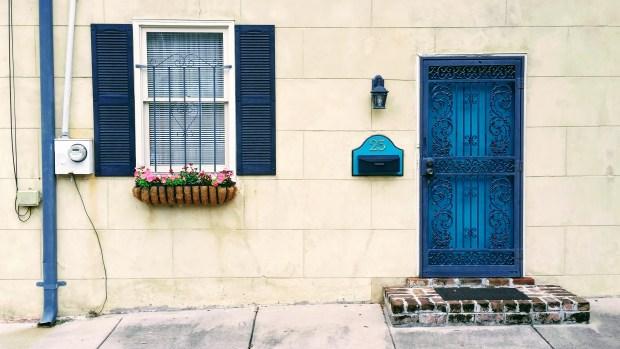 Blue Door Fixed