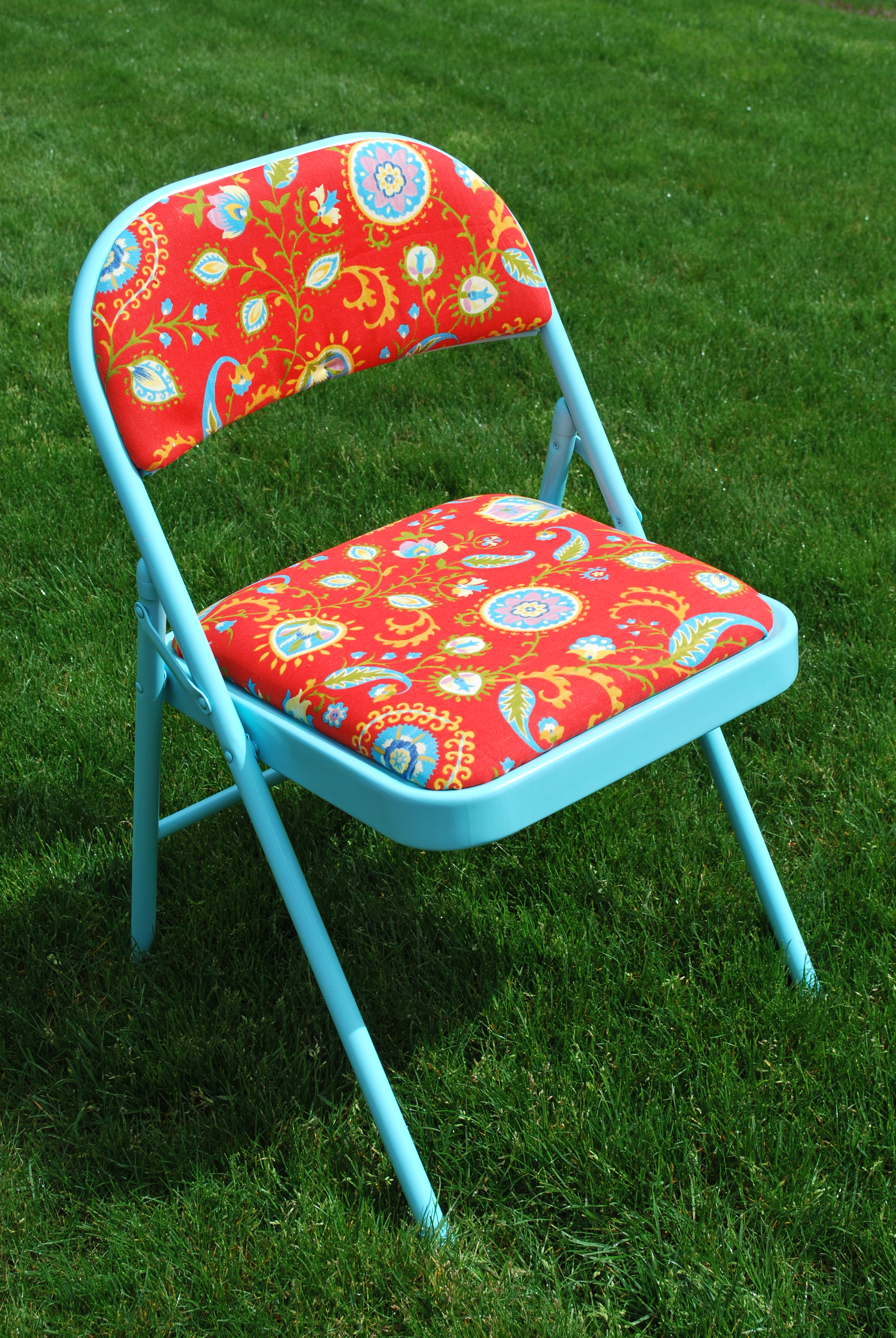 folding chair hack round loveseat makeover a gathering place