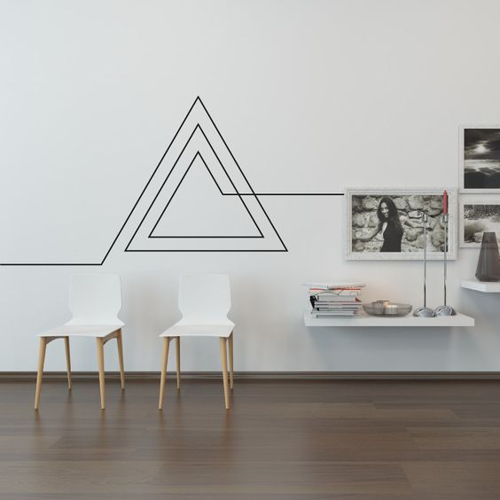 Wall Decals Are An Affordable And Easy Way To Dress Up Your Blank Spaces.  Choosing This Simple Geometrical Design For Your Wall Exudes A Chic And  Trendy ... Awesome Ideas