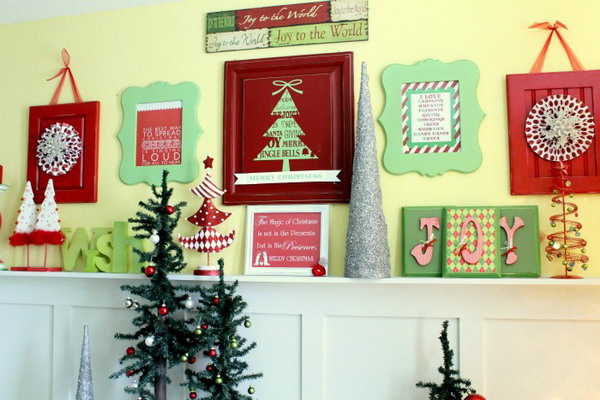 Retro-Christmas-Mantel-Decorating-Ideas