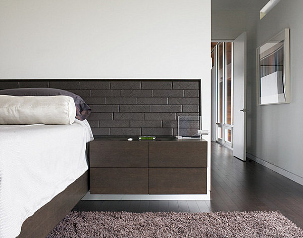 A-dark-wood-wall-mounted-nightstand