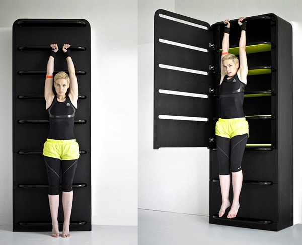 4. Compact Gym Cupboard  Space Saving Furniture For Small Apartments