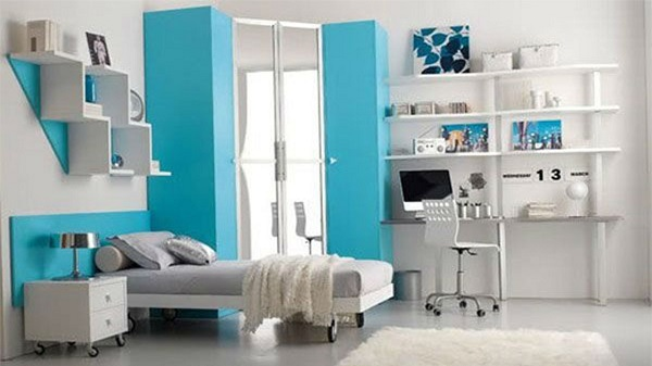 modern-teenager-bedroom-in-white-with-blue-accent-idea