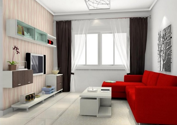 creative-white-living-room-red-sofa-rendering