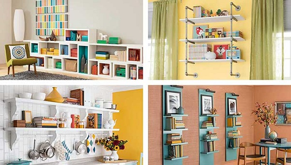 diy bedroom shelves ideas