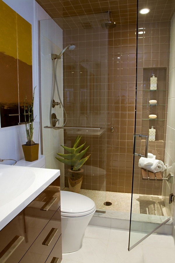 Brown and White Theme Small Bathroom Design & 20 Lovely Small Bathroom Ideas For Your Apartment \u2013 HomeDecoMalaysia ...