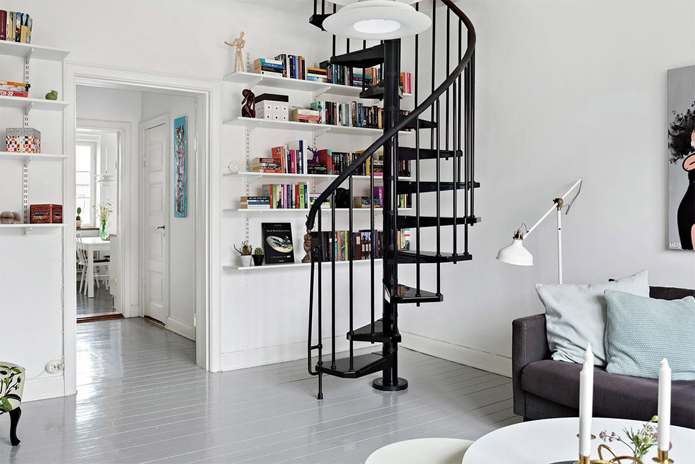 If space is a concern in your duplex a spiral staircase is a must-have. Spirals take up very little space and you can choose a design that matches your ... & 12 Beautiful Duplex Apartment Decoration Ideas Which You Will Love ...