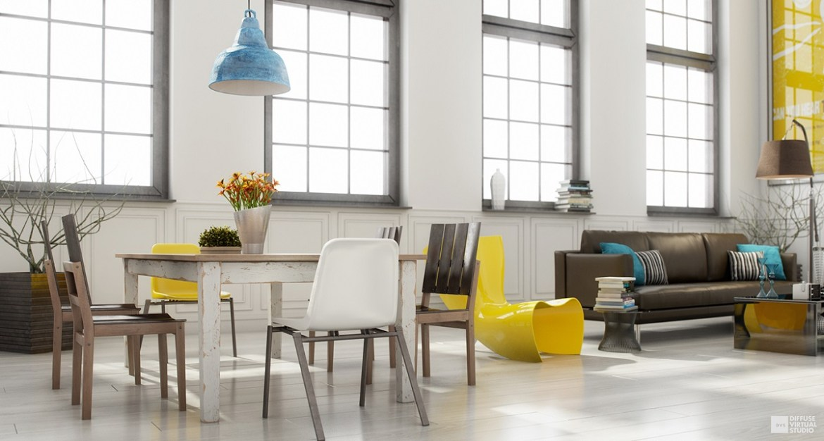 blue-and-yellow-scandinavian-dining-room