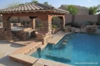 Back Yard Bar Ideas with Gazebo and Pool