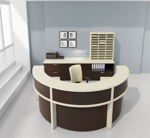 Circular Desk Design in Home Office