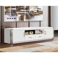 Minimalist White TV Stand - HOME DECO