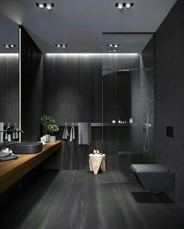 Black Bathroom  Home Decoration  Katalaynet