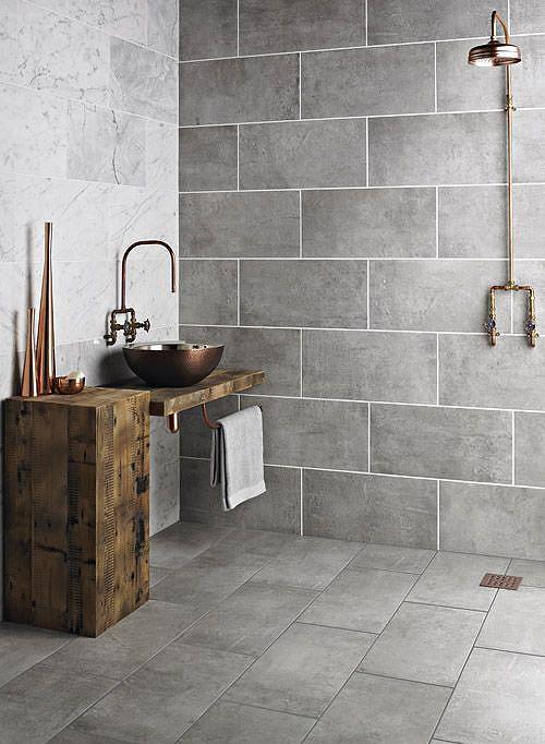 Rustic Bathroom Wall Tile