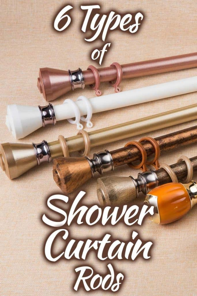 6 types of shower curtain rods you