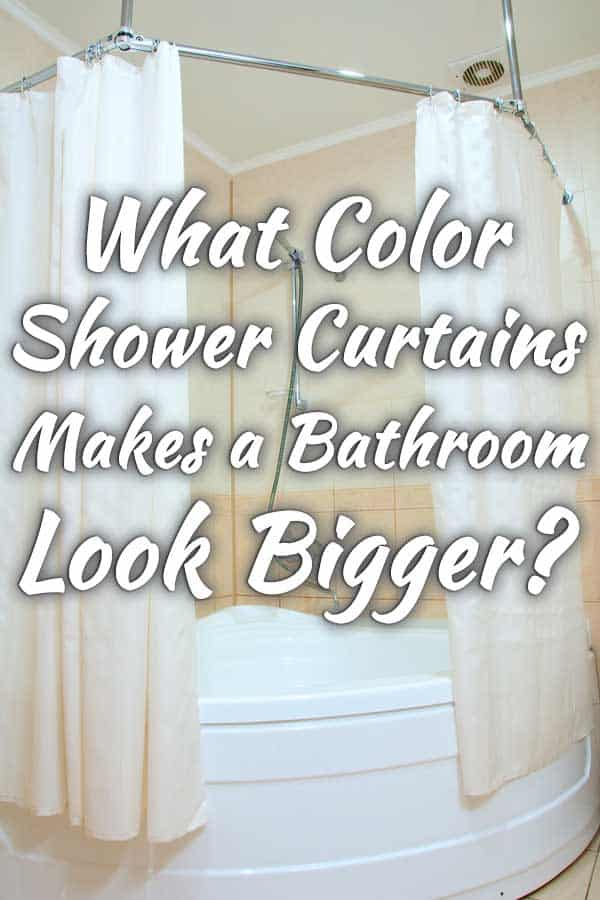 what color shower curtain makes a