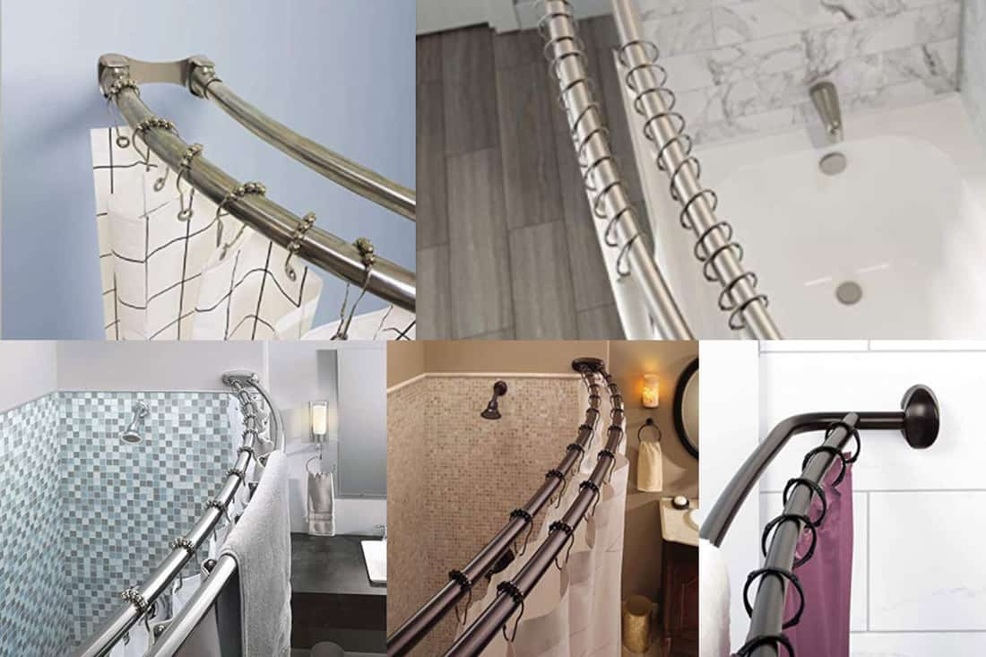 10 Double Shower Curtain Rods You Should Check Out Home Decor Bliss