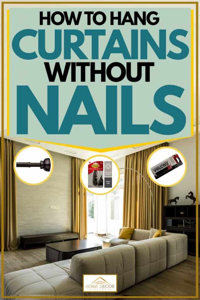 No Nail Curtain Rod : curtain, Curtains, Without, Nails, Decor, Bliss