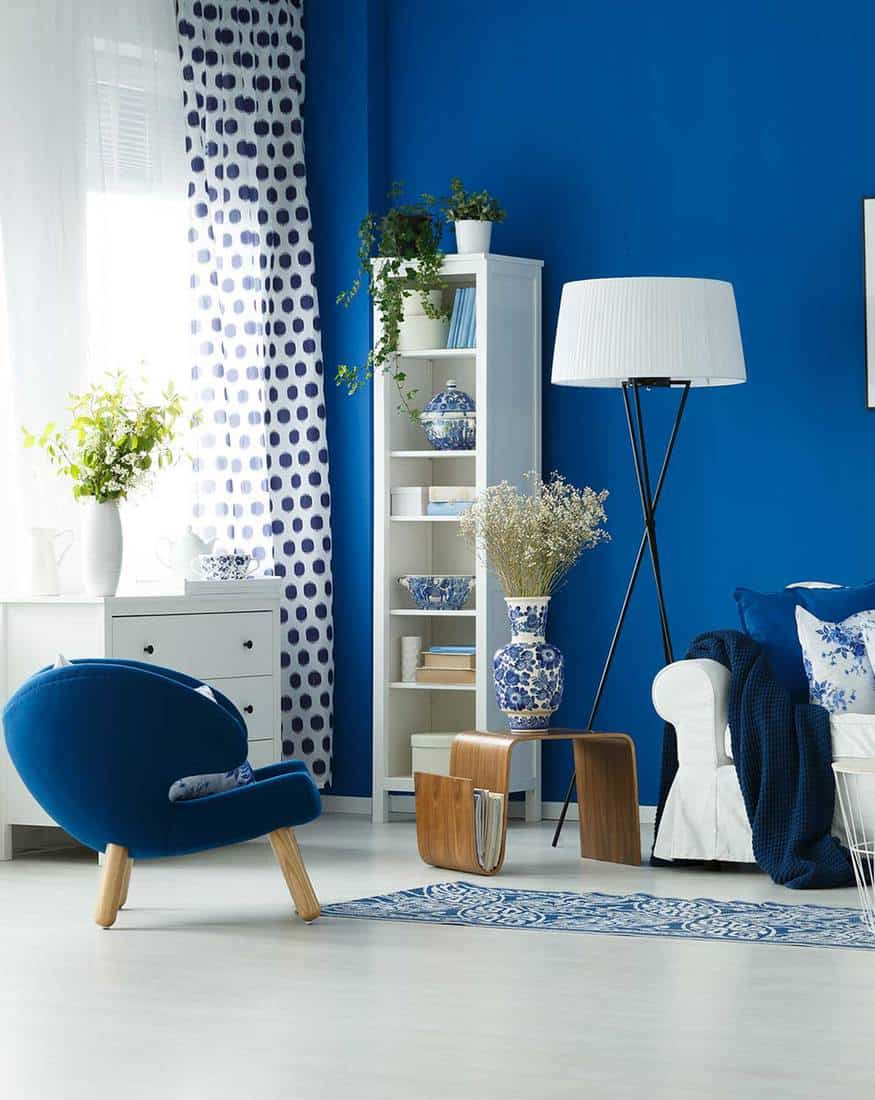 curtains for blue walls