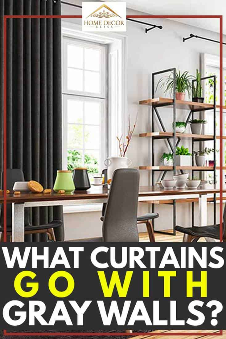 what curtains go with gray walls