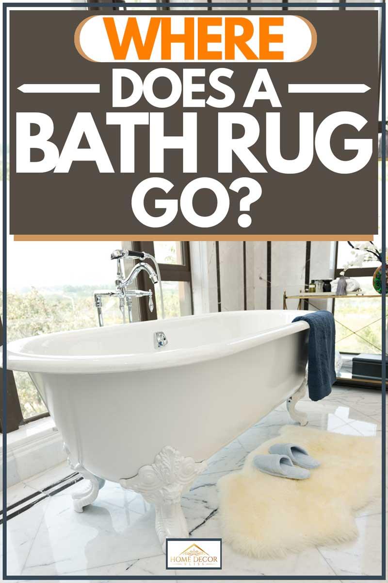where does a bath rug go home decor