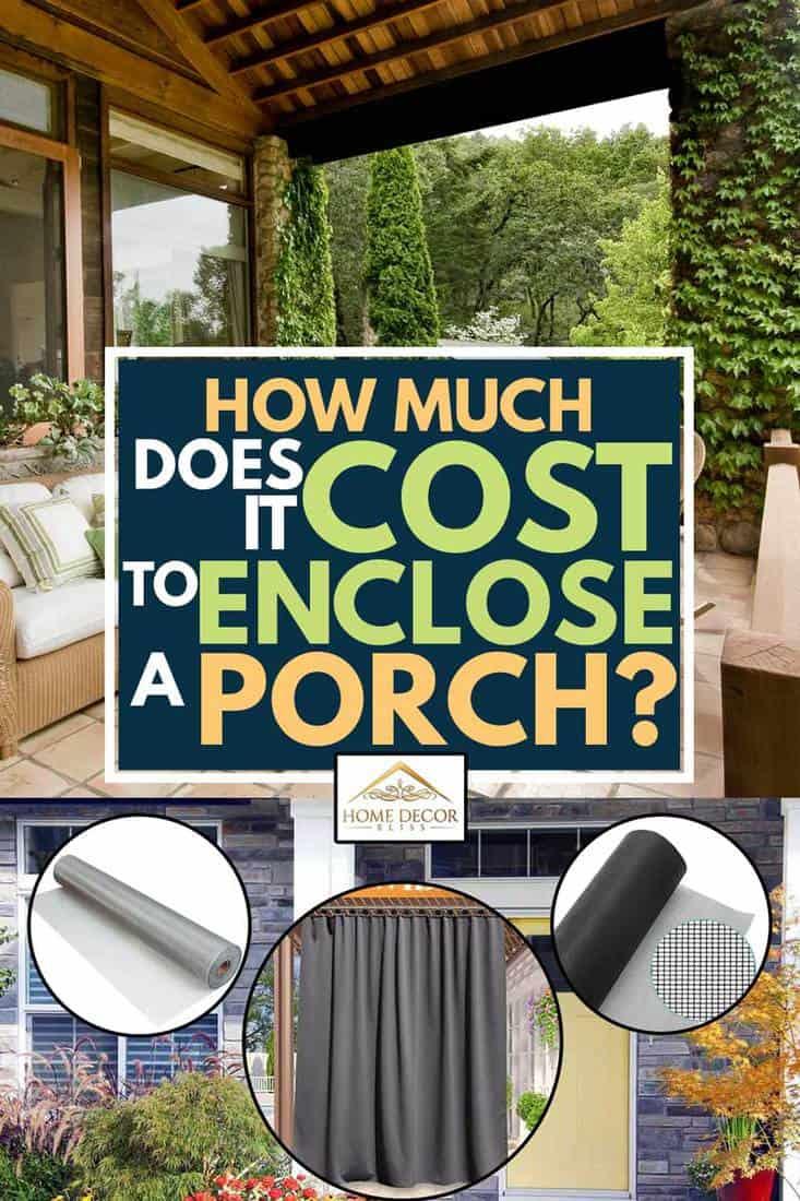 it cost to enclose a porch