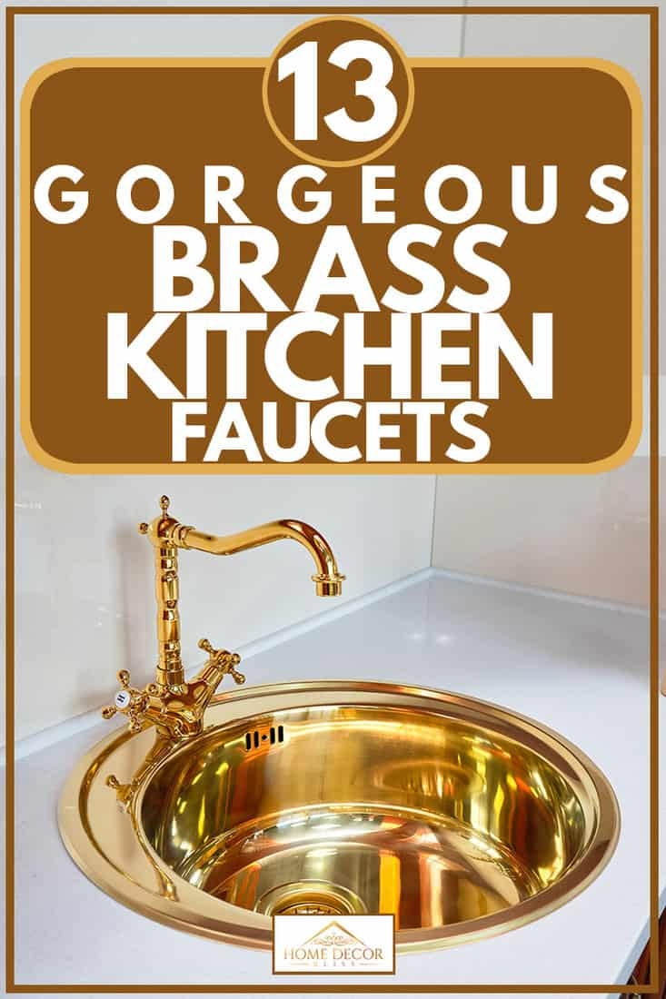 gorgeous polished brass kitchen faucets