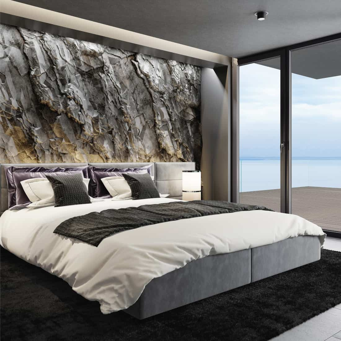 what color bedding goes with black