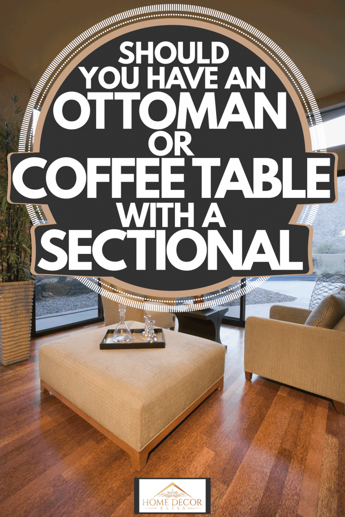an ottoman or coffee table