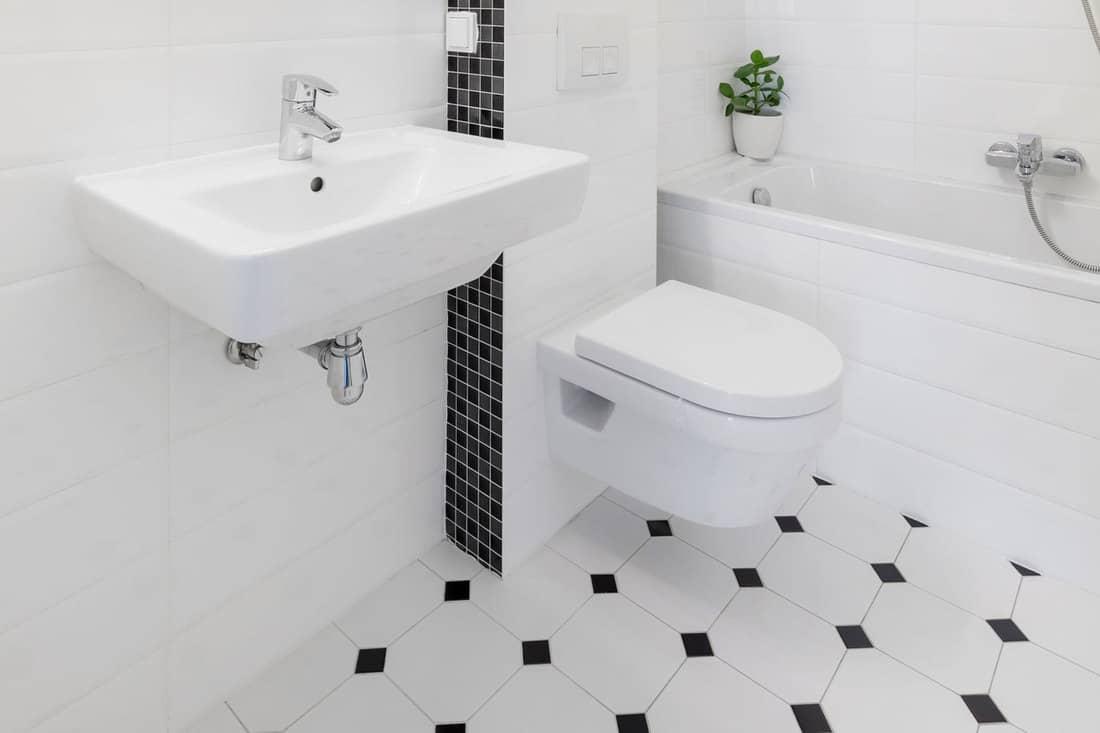 white tile bathroom floor ideas