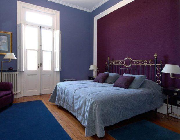 blue bedroom decor