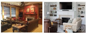Living Room Remodels – Before and After
